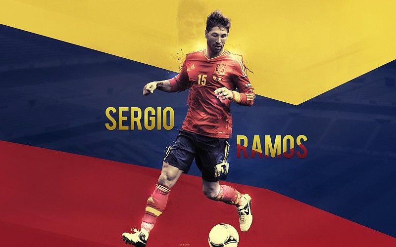 Adidas spain national football team sergio ramos graphics 800x500