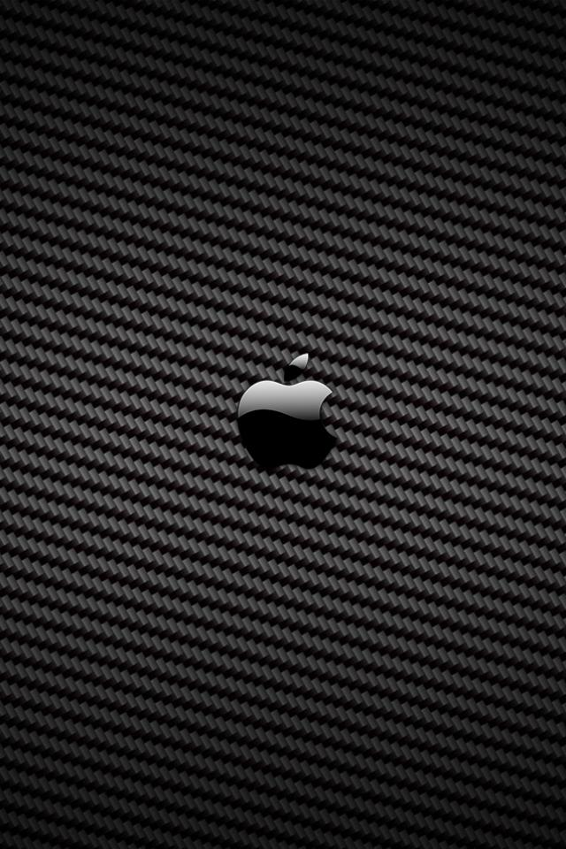 Carbon Fiber Apple iphone 4S wallpaper 640x960 iPhone 4s Wallpapers 640x960