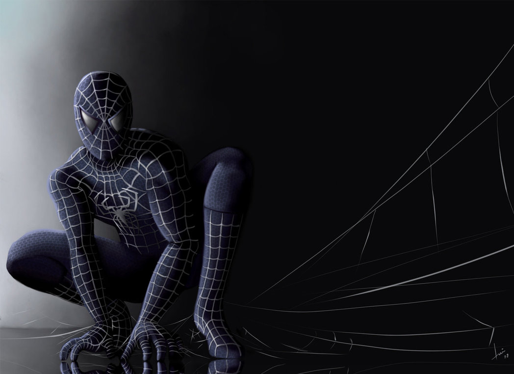 Aninimal Book: [47+] Black Suit Spiderman Wallpaper on WallpaperSafari