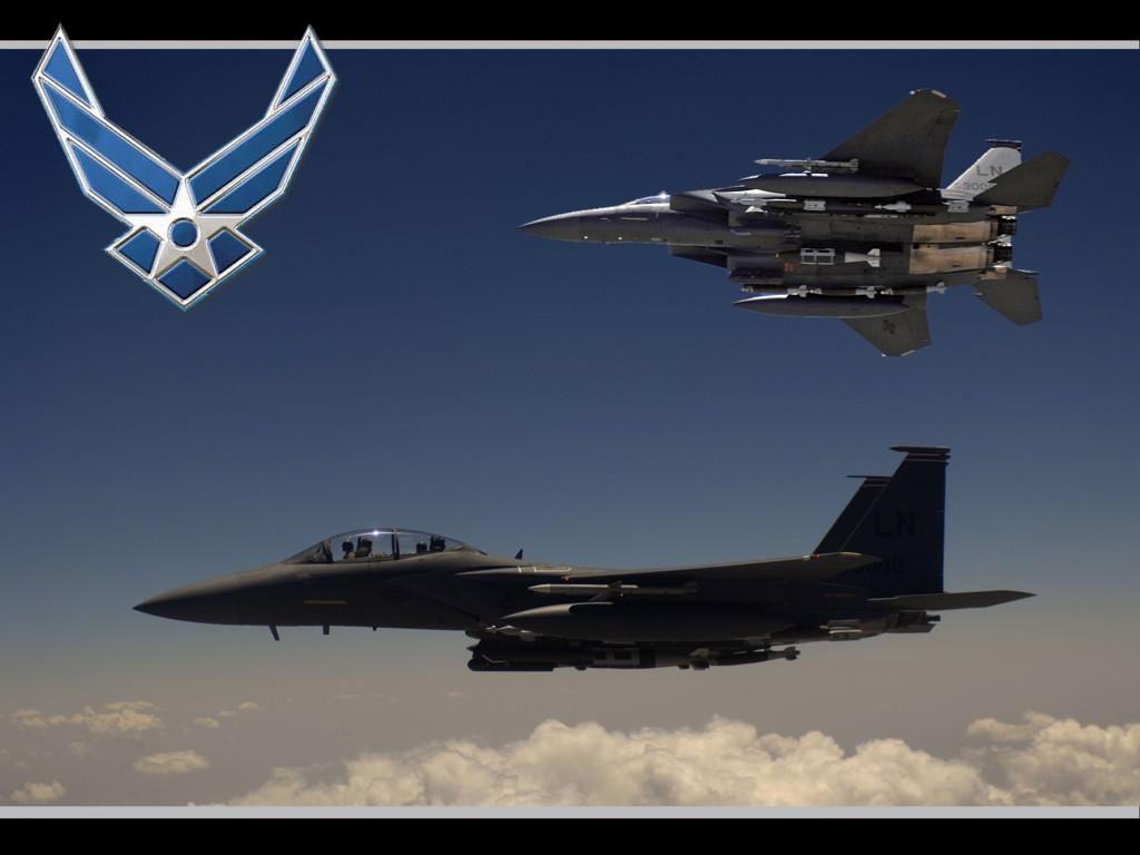 Wallpaper desk top wallpaper US Air Force F15E 1024x768