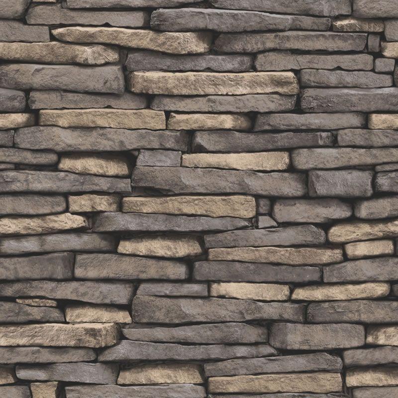 Natural Stone Grey   FD31293   Slate   Brick   Fine Decor Wallpaper 800x800