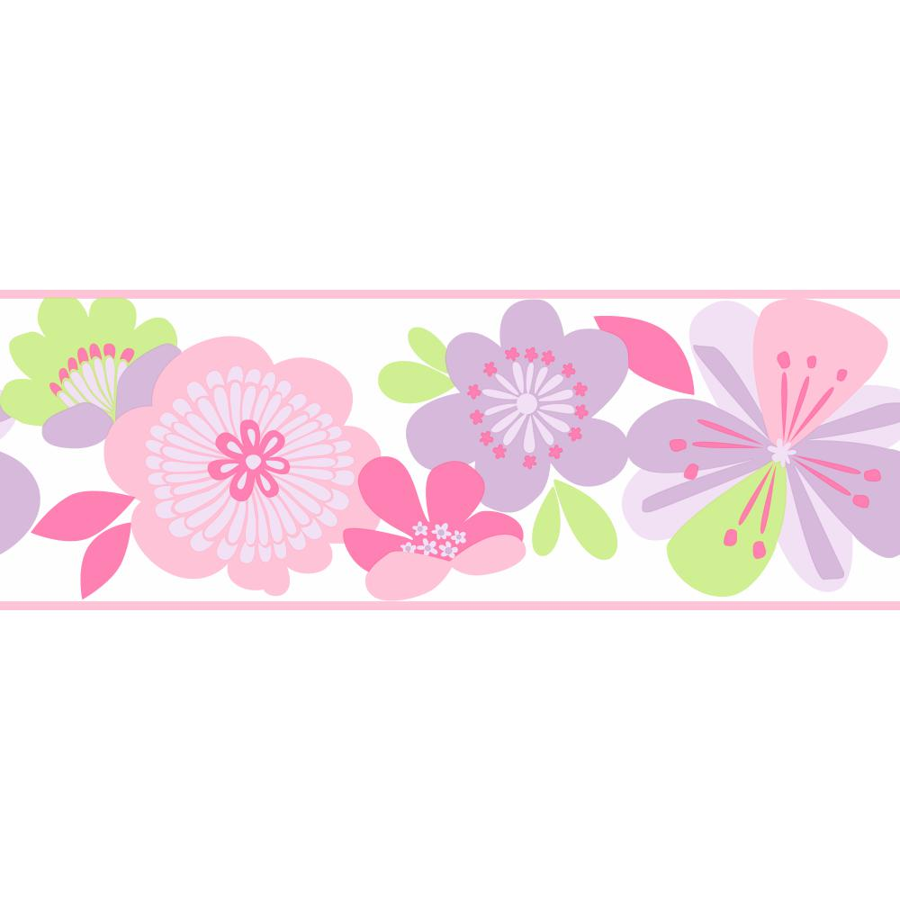 Free Download Floral Wall Covering Border Wallpaper Border