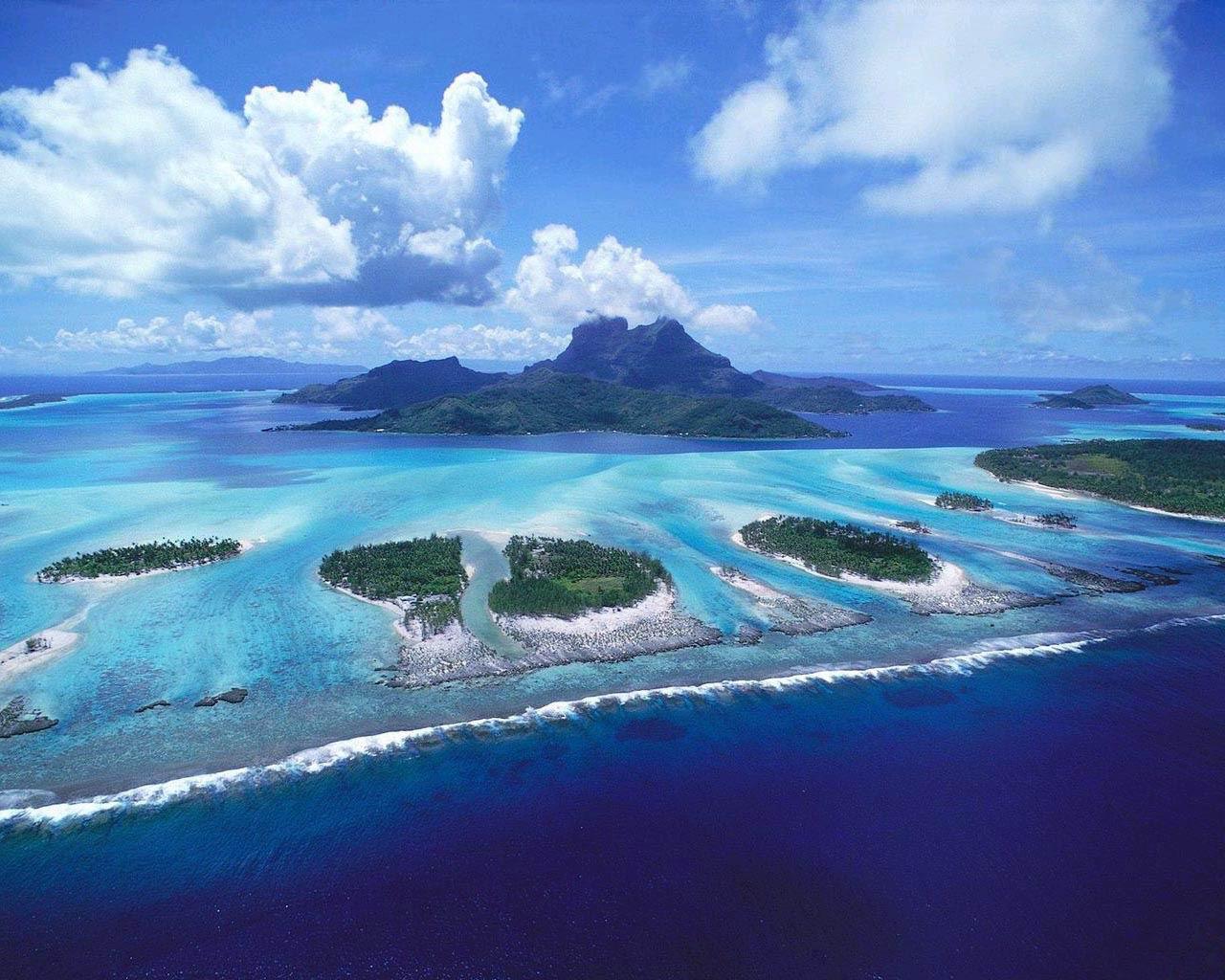 FULL WALLPAPER tropical island sunset wallpaper 1280x1024