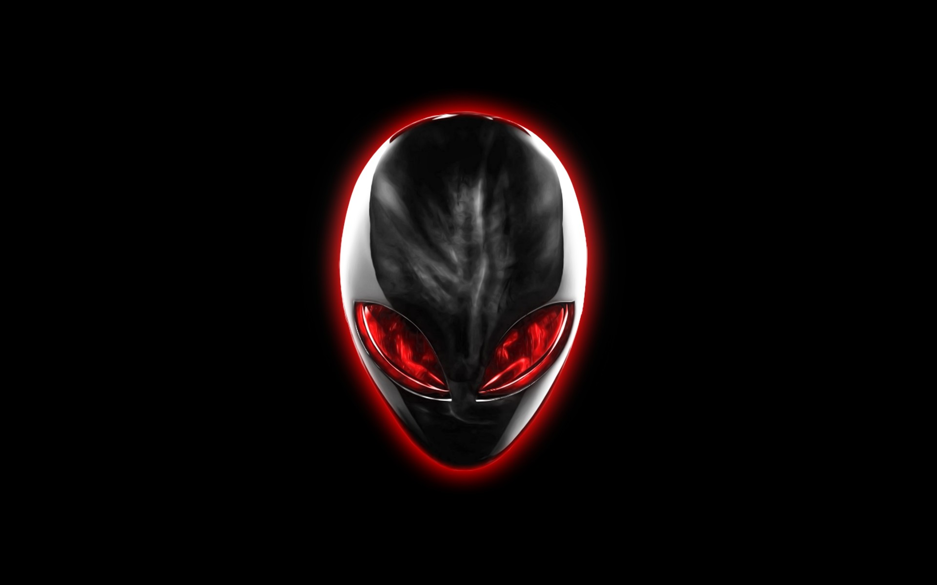Chrome Alienware Red Eyes by darkangelkrys 1920x1200