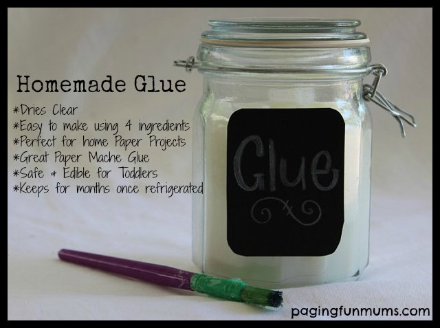 Homemade Glue   Perfect for home paper crafts like Paper Mache and so 640x477