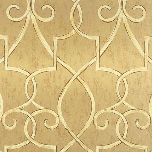 PoshLiving   Hampton Lattice Wallpaper in Metallic Gold 500x500