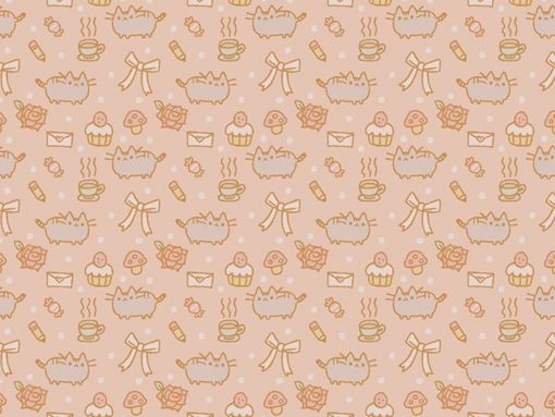Download Pusheen Tile wallpapers to your cell phone   adorable cat 510x383