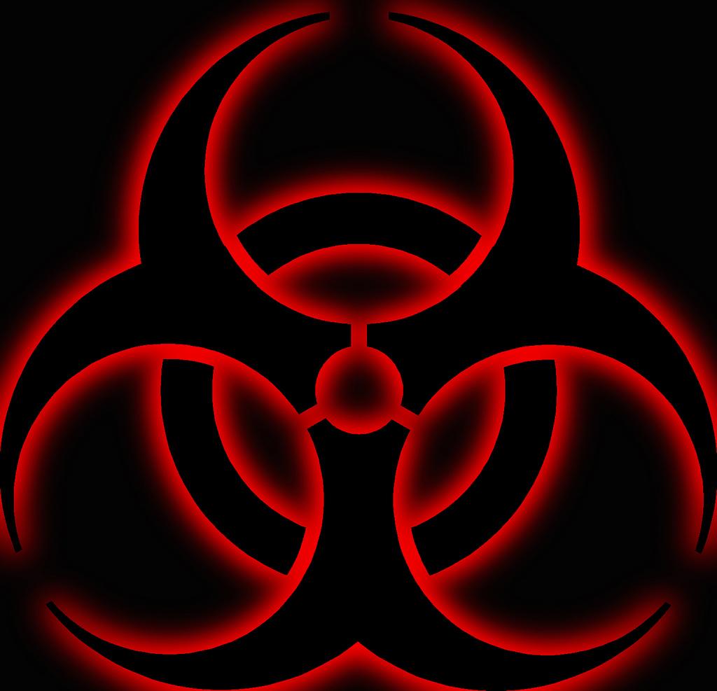 Red Biohazard Symbol Wallpaper Biohazard symb 1024x987