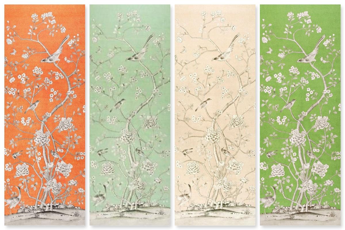 49 Chinoiserie Wallpaper Panels On Wallpapersafari,Custom Upholstered Headboards Toronto