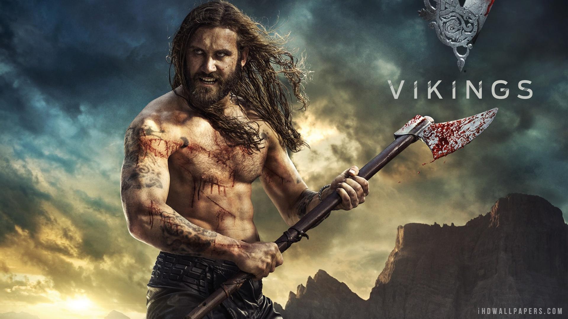 Rollo Vikings Season 2 TV Series 2014 HD Wallpaper   iHD Wallpapers 1920x1080