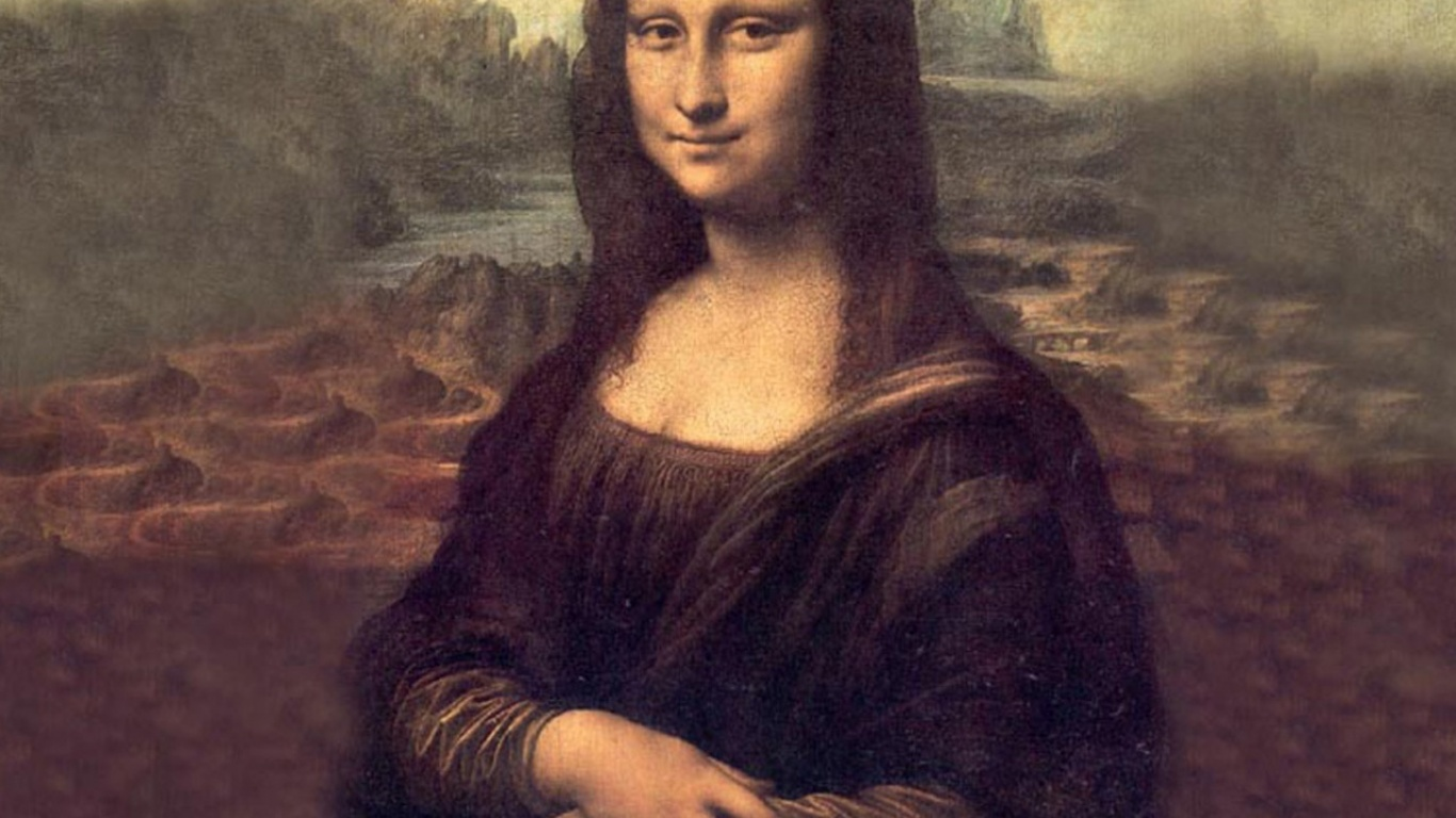 Source URL httphqwallsorgview mona lisa wallpaper leonardo da 1366x768