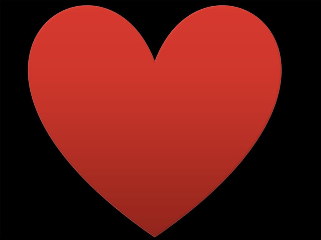 Red Heart Black Background - WallpaperSafari