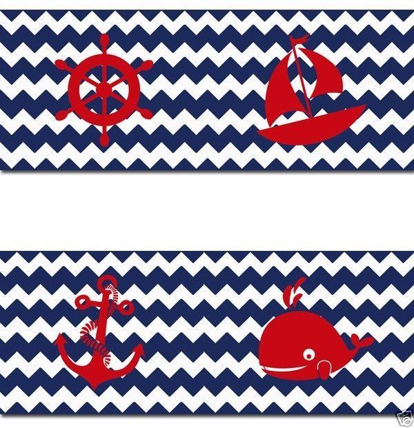 Navy Blue Chevron Nautical Wallpaper Border Wall Decals Baby Boy Nurs 600x621