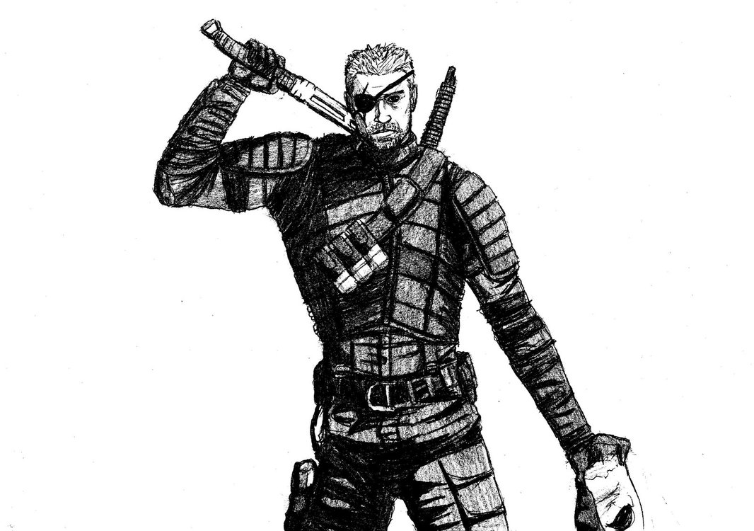 Deathstroke Arrow black and white by LucasBoltagon 1066x750