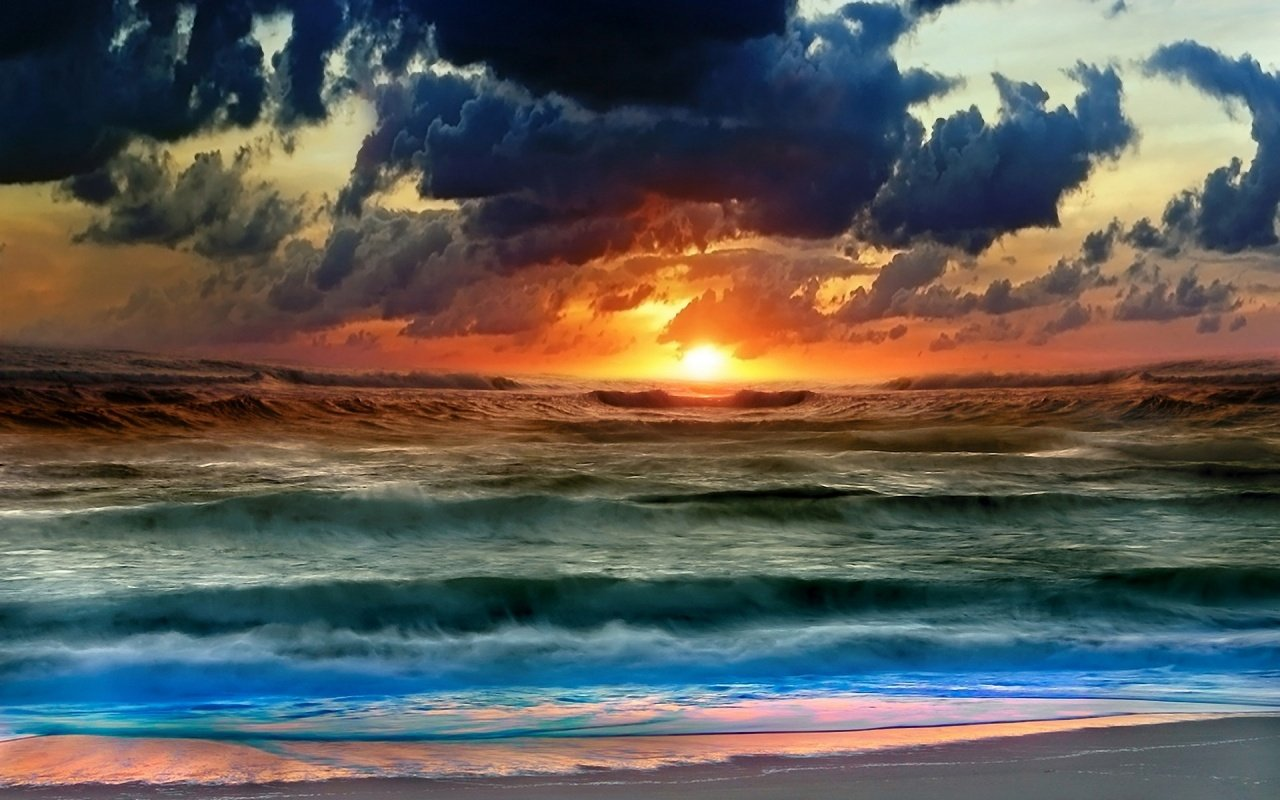 free sunset in sea wallpaper sunset in sea windows background 1280x800