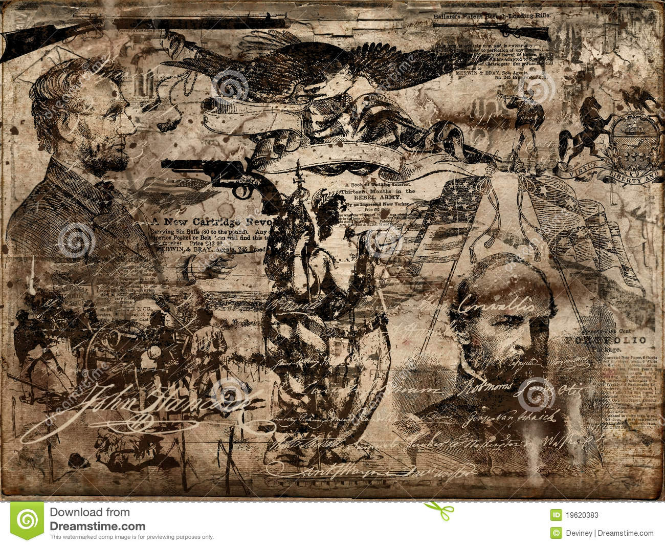 American Civil War Wallpaper Border Civil war memorabilia 1300x1069