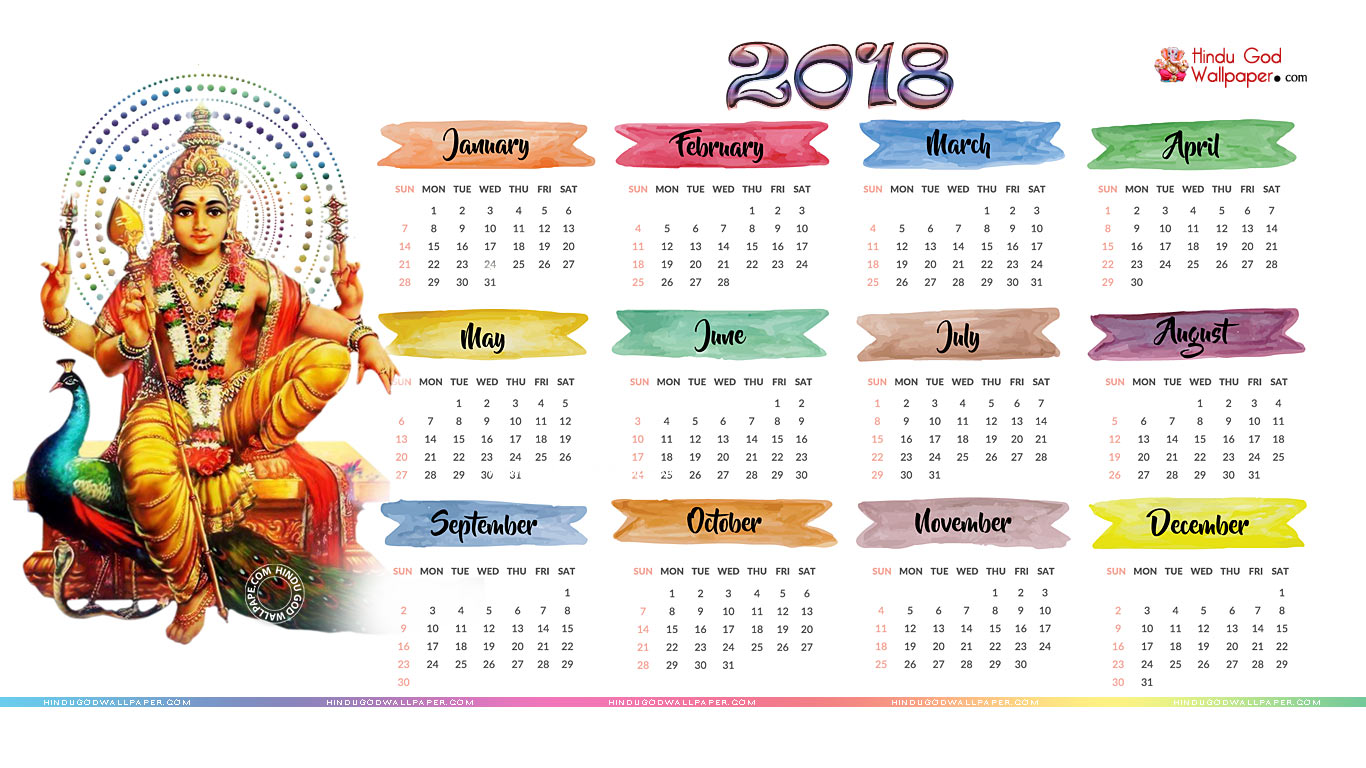 January 2018 Calendar Background 1366x768