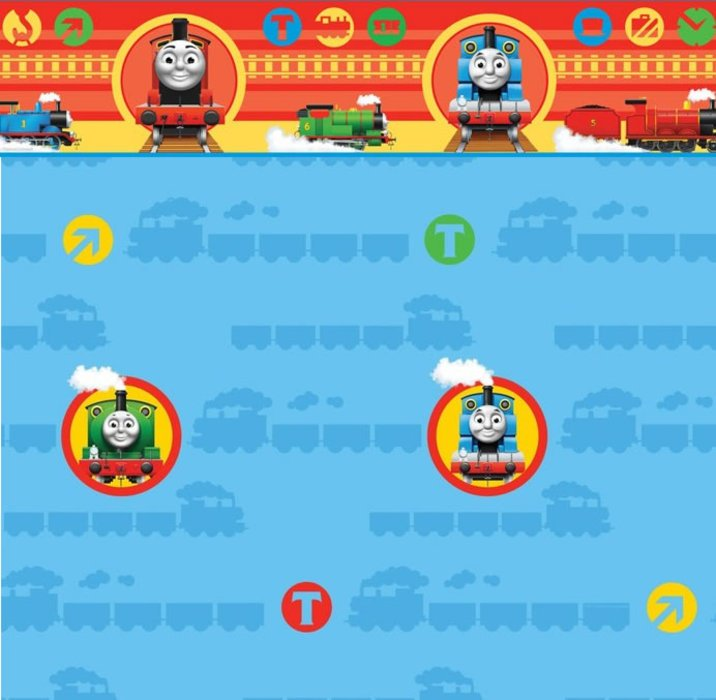 Childrens Rooms Thomas the Tank Engine Thomas Wallpaper Border 716x700
