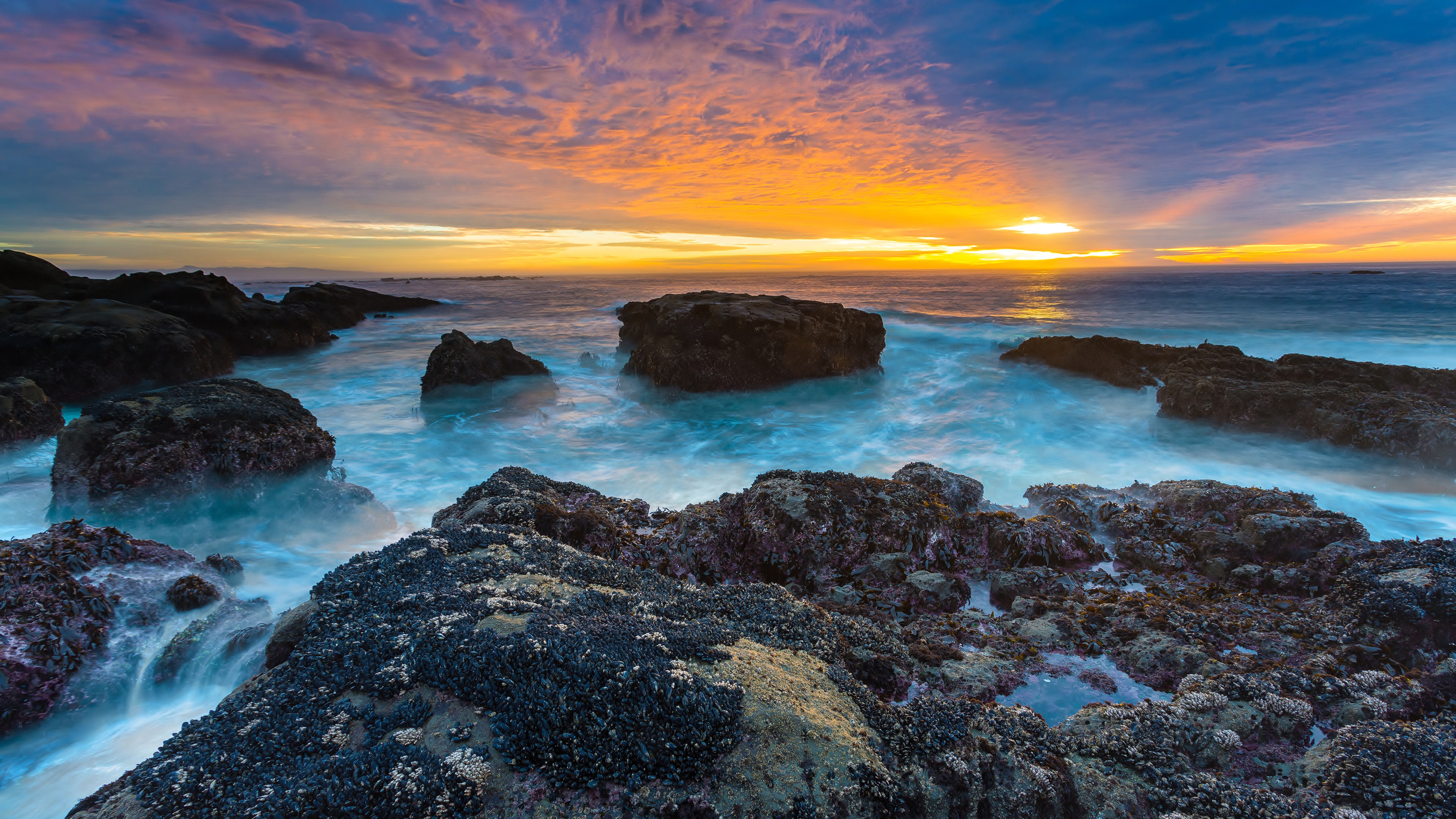 lake sunset landscape ocean ultrahd 4k wallpaper wallpaper background 3840x2160