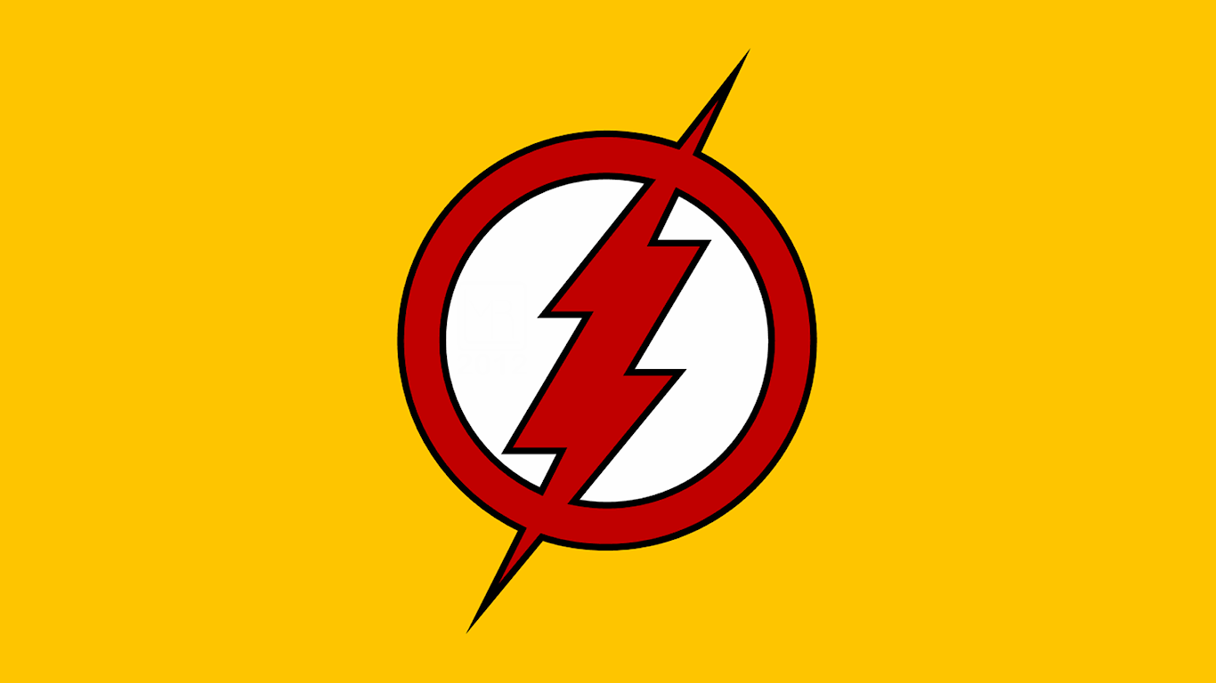 Flash Logo Wallpaper Kid flash ii symbol wp by 1366x768