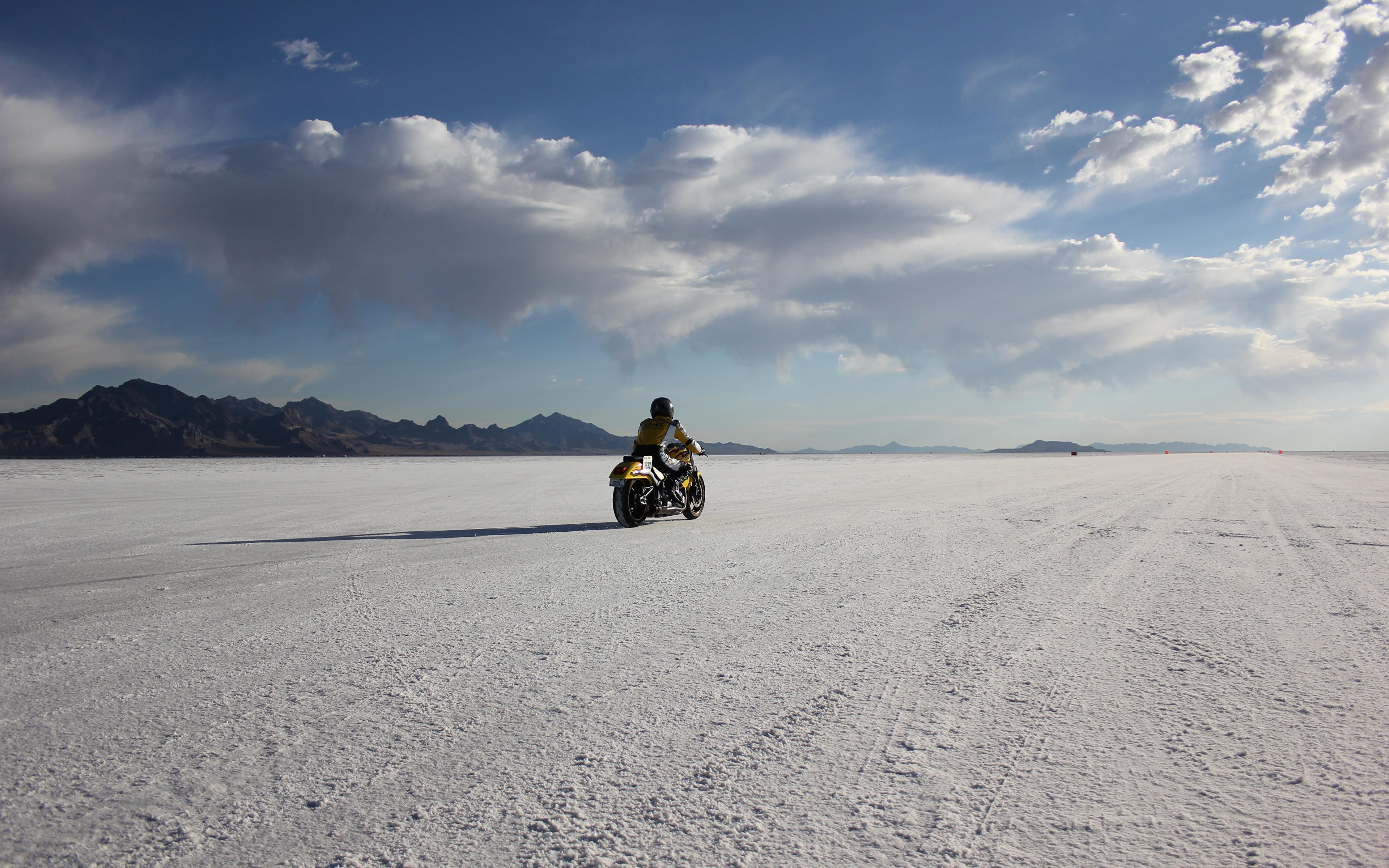 Wallpaper USA bonneville salt flats utah Desert 3840x2400 3840x2400