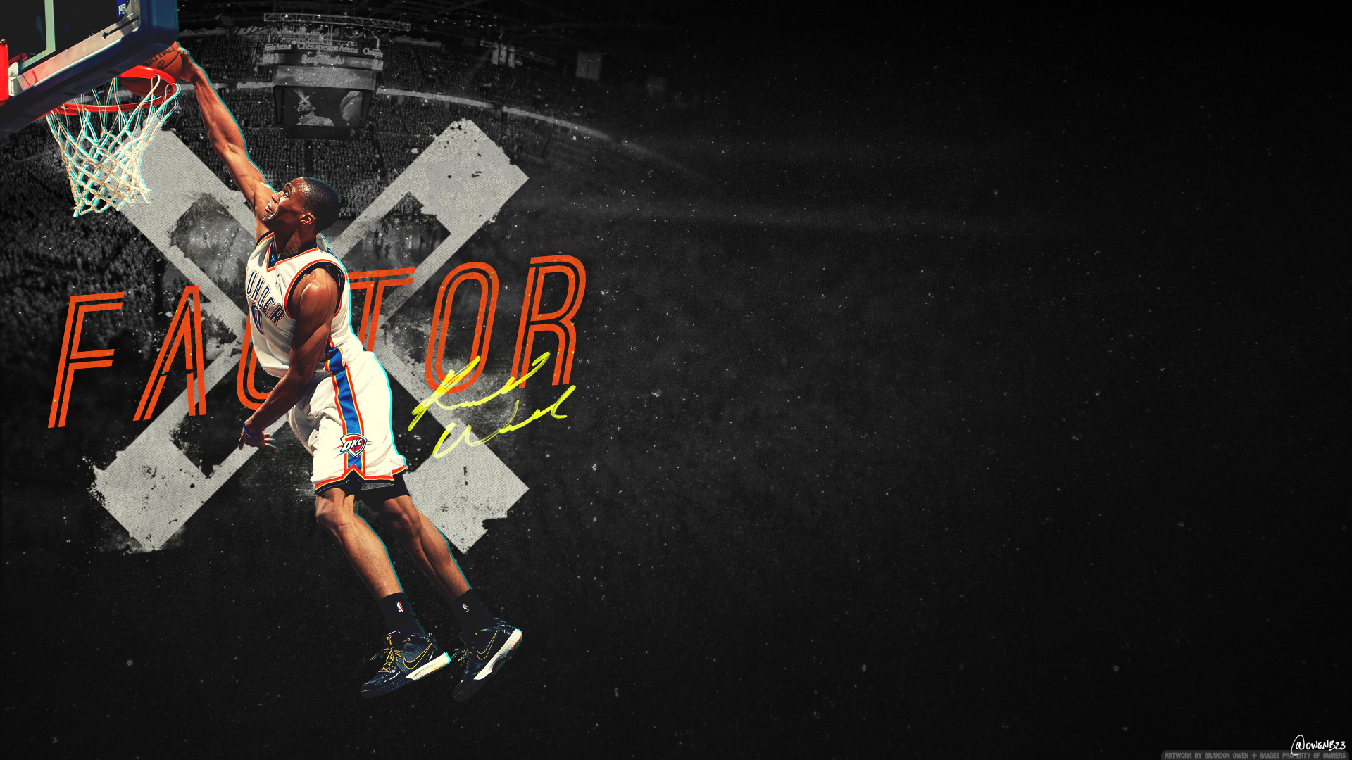 Russell westbrook wallpaper iphone wallpapersafari - Go Back Images For Russell Westbrook Dunk Wallpaper