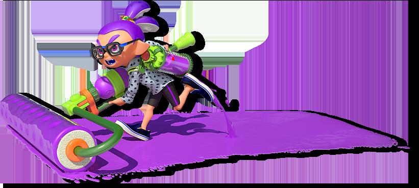 splatoon inkling boy purple by Squid Research Lab 821x369