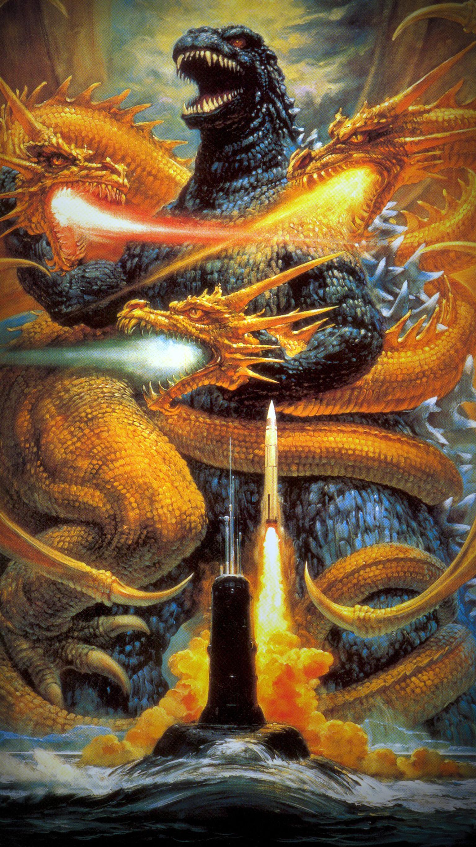 Godzilla vs King Ghidorah 1991 Phone Wallpaper Moviemania 1536x2732