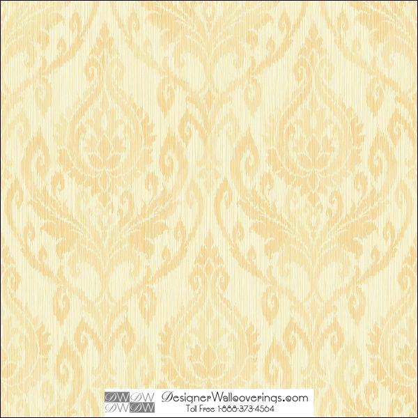 Alisons Aged Damask Wall Paper [HUN 37965] Designer Wallcoverings 600x600
