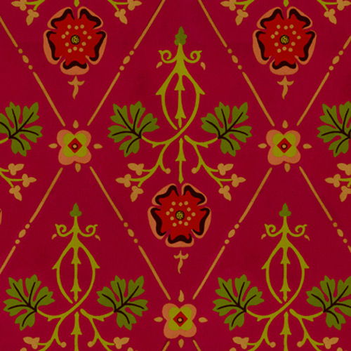 1800s red and gold floral harlequin design wallcovering [Vin 1120 500x500