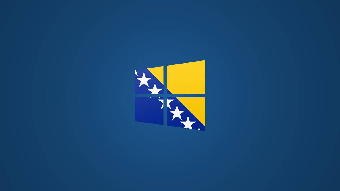 Windows 8 Bosnian Flag Logo Wallpaper Blue by Edinev 1192x670