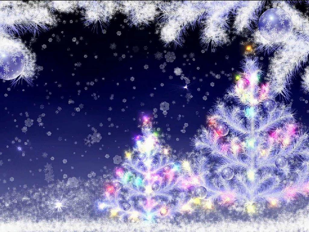 animated snow falling wallpaper