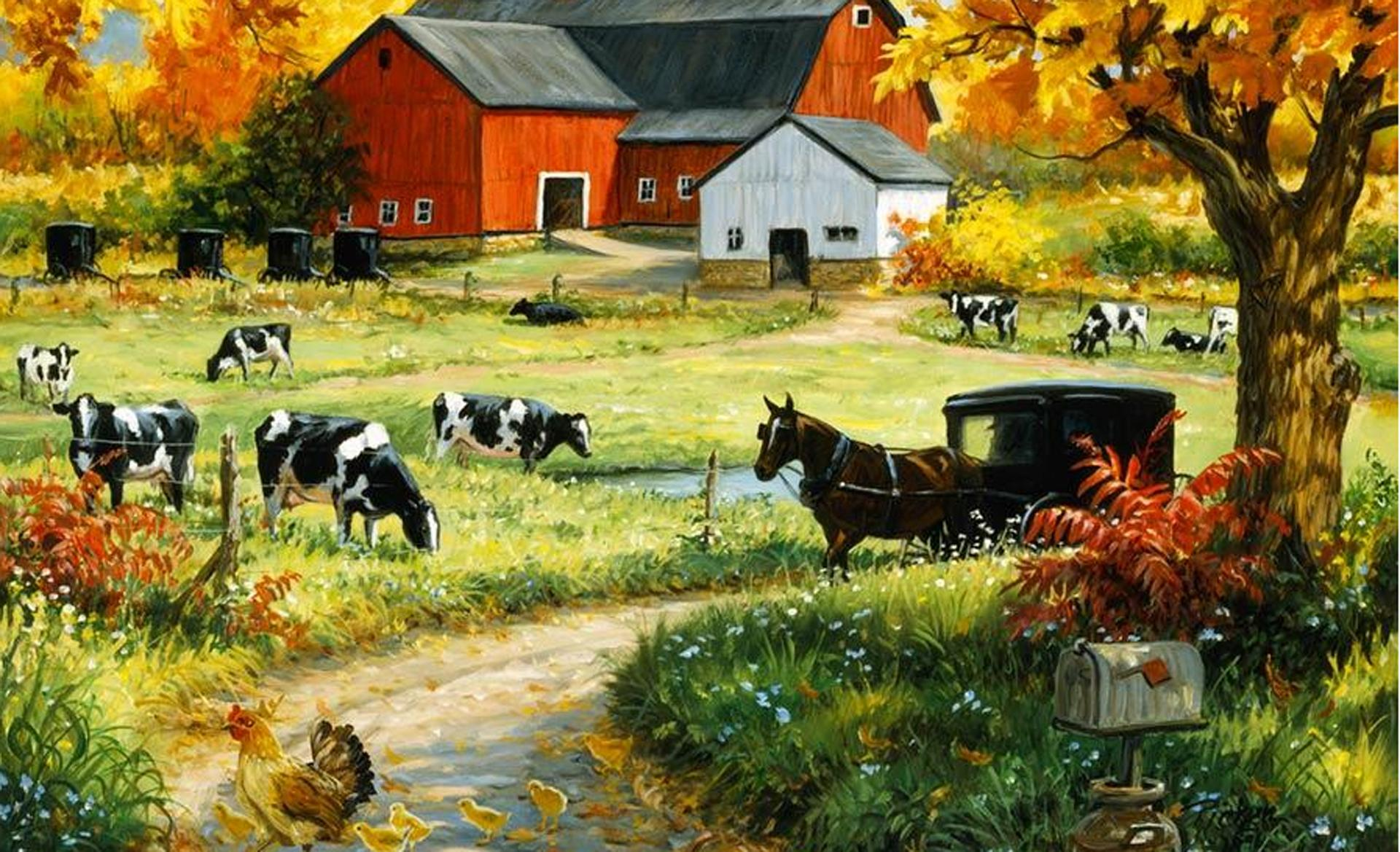 Farm Landscape Wallpaper Background Download 8 5627 1920x1169