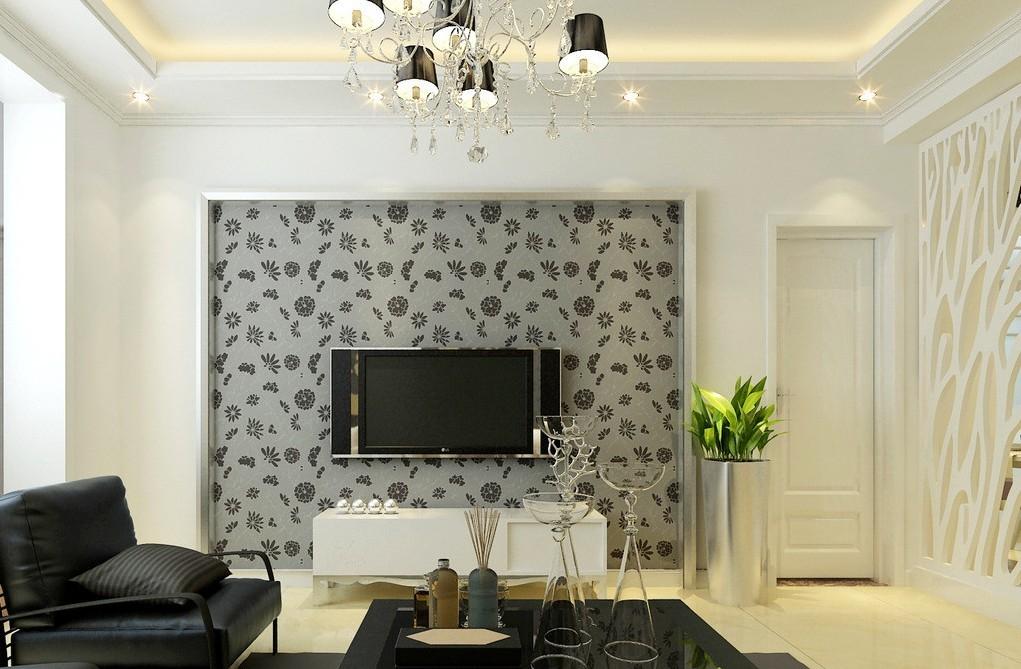 Download living room 3d wallpaper designs design living - Wallpaper one wall in living room ...