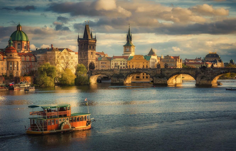 Wallpaper bridge Prague Czech Republic The Charles Bridge in 1332x850