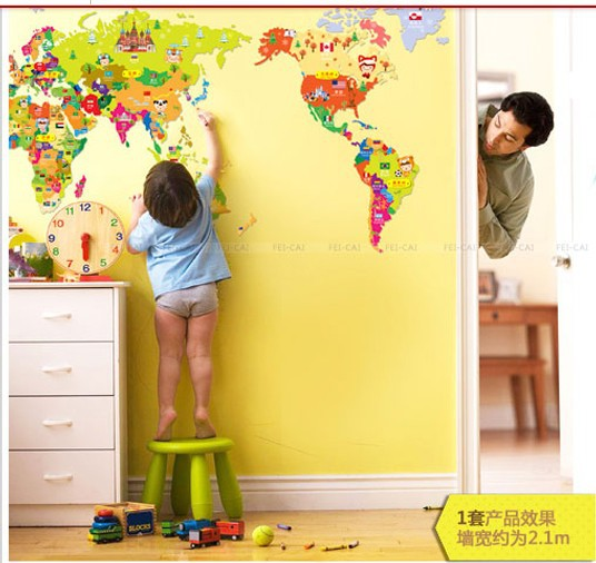 World Map Wallpaper for Kids