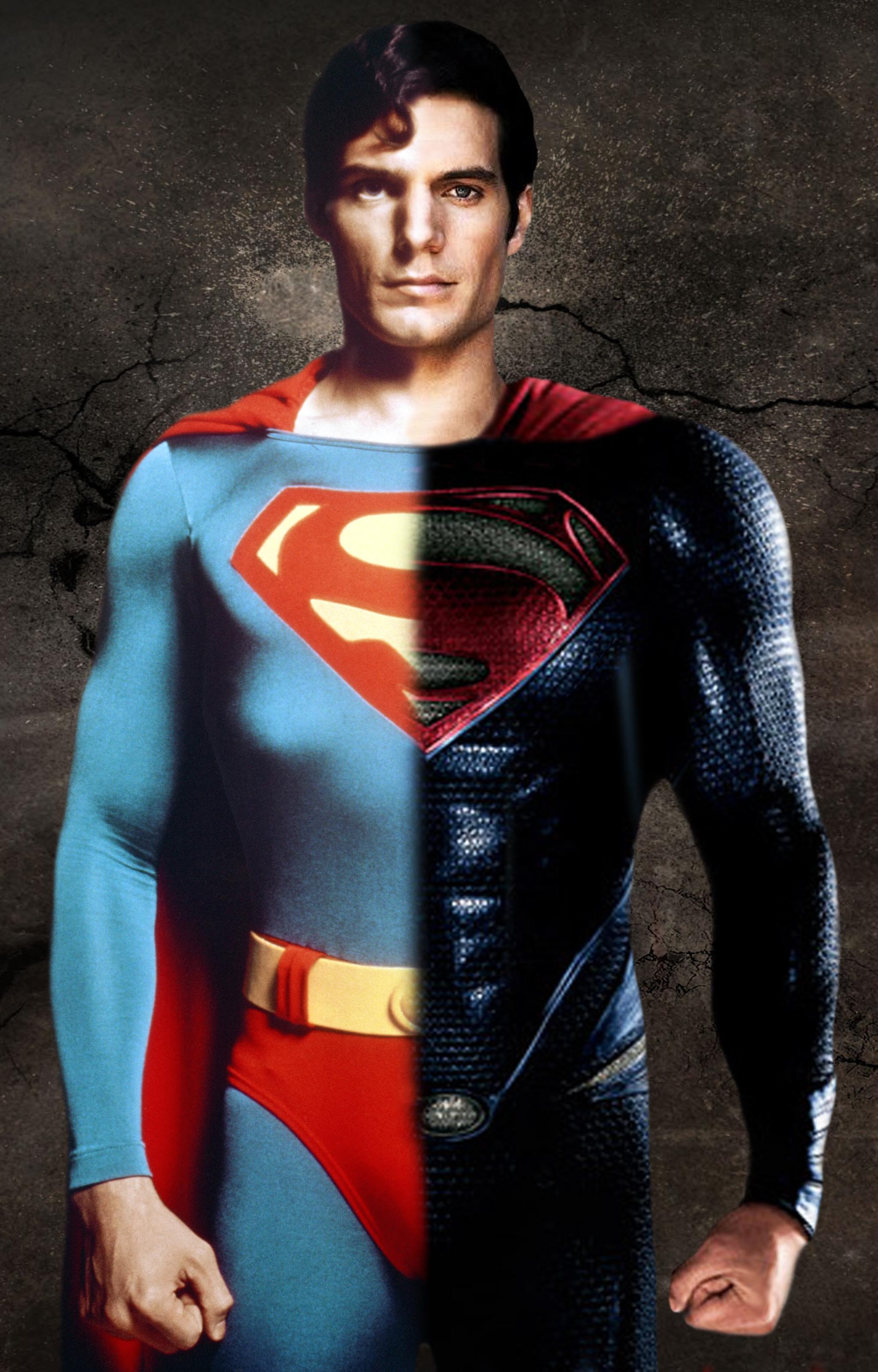 Christopher Reeve Henry Cavill By Andrewmjbaker Dfcz 2043x3191