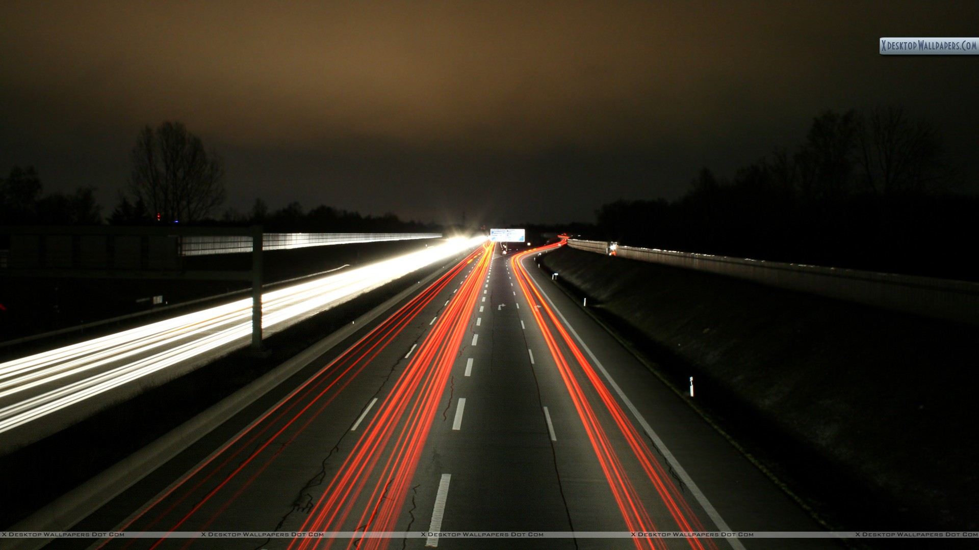 Led Lights On Highway 1920x1080