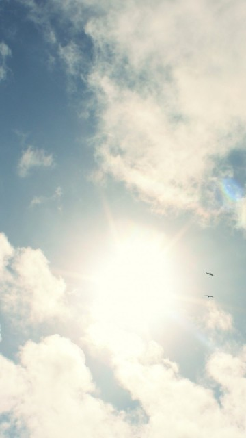 Sunny20Sky20White20Clouds20Android20Wallpaper 360x640jpg 360x640