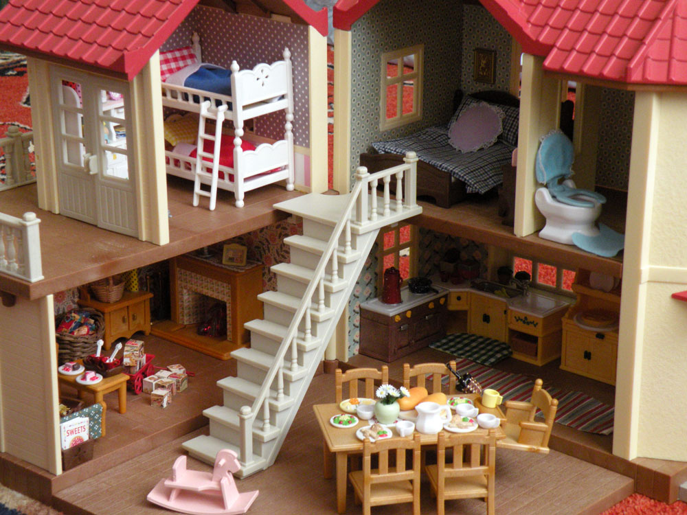 Calico Critters Sylvanian Families Luxury Townhouse Custom Wallpaper 1000x750