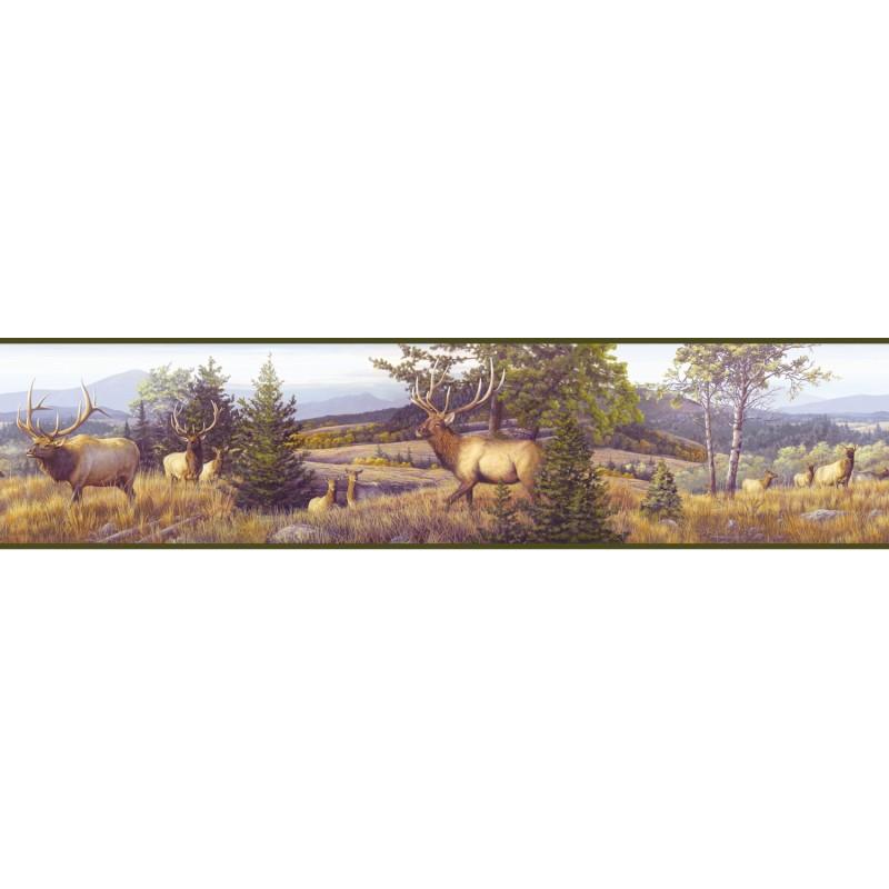 Wallpaper Border Animals Nature Elk Mountain Border 800x800