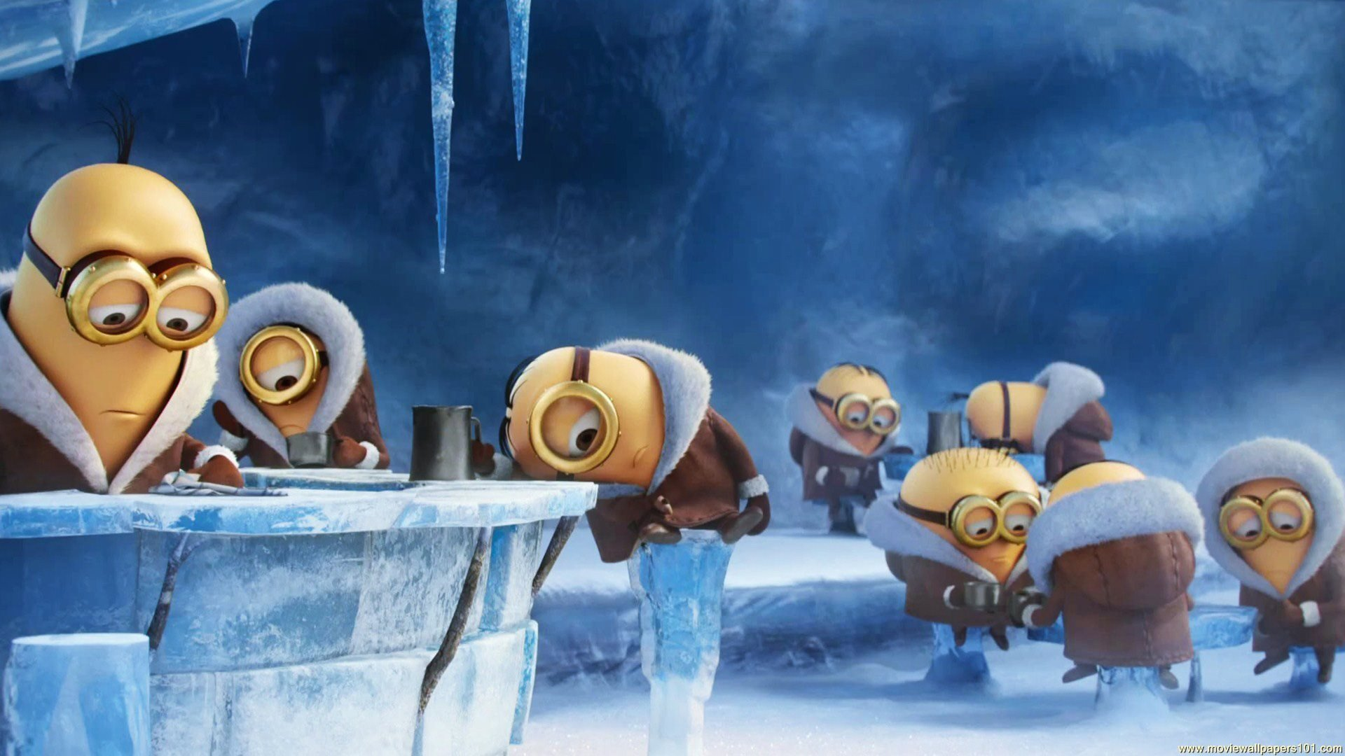 北極に到達したミニオンズ