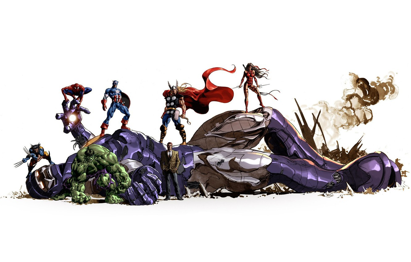Wallpaper background Superheroes Marvel Comics Sentinel images 1332x850