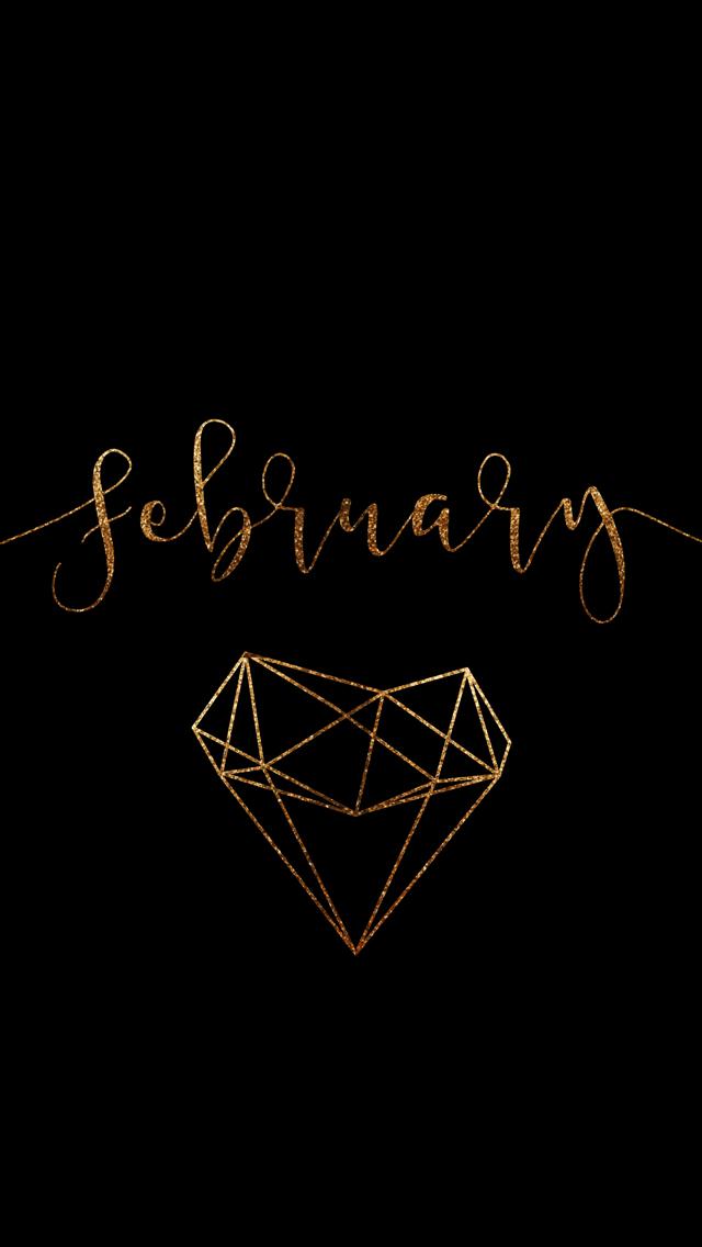 February 2016 Desktop Calendar Wallpaper Paper Leaf 640x1136