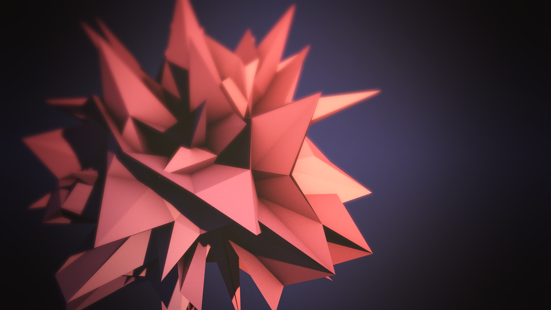 Low Poly Flower by maty241 1920x1080