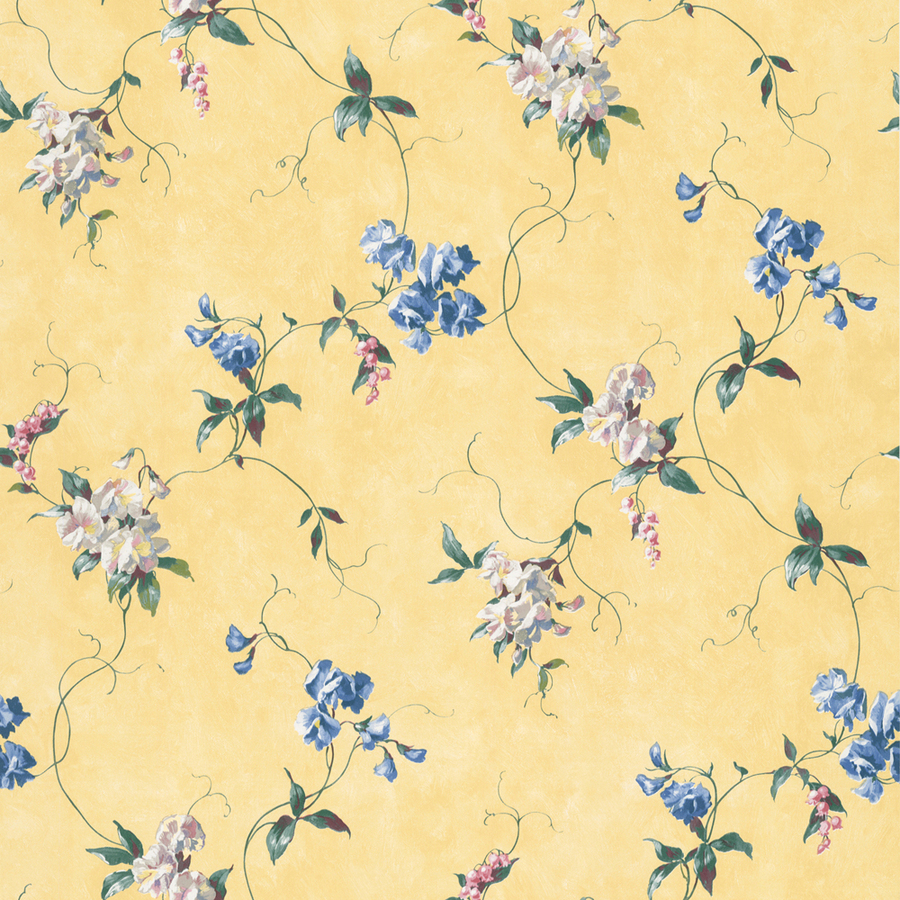 Waverly Yellow Peelable Vinyl Prepasted Classic Wallpaper at Lowescom 900x900