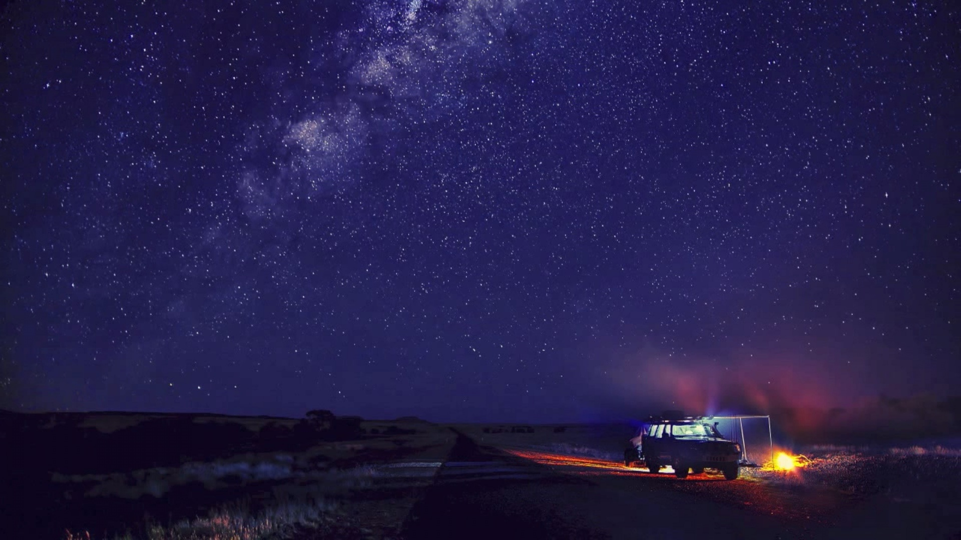 1920x1080 Camp and Starry Sky desktop PC and Mac wallpaper 1920x1080