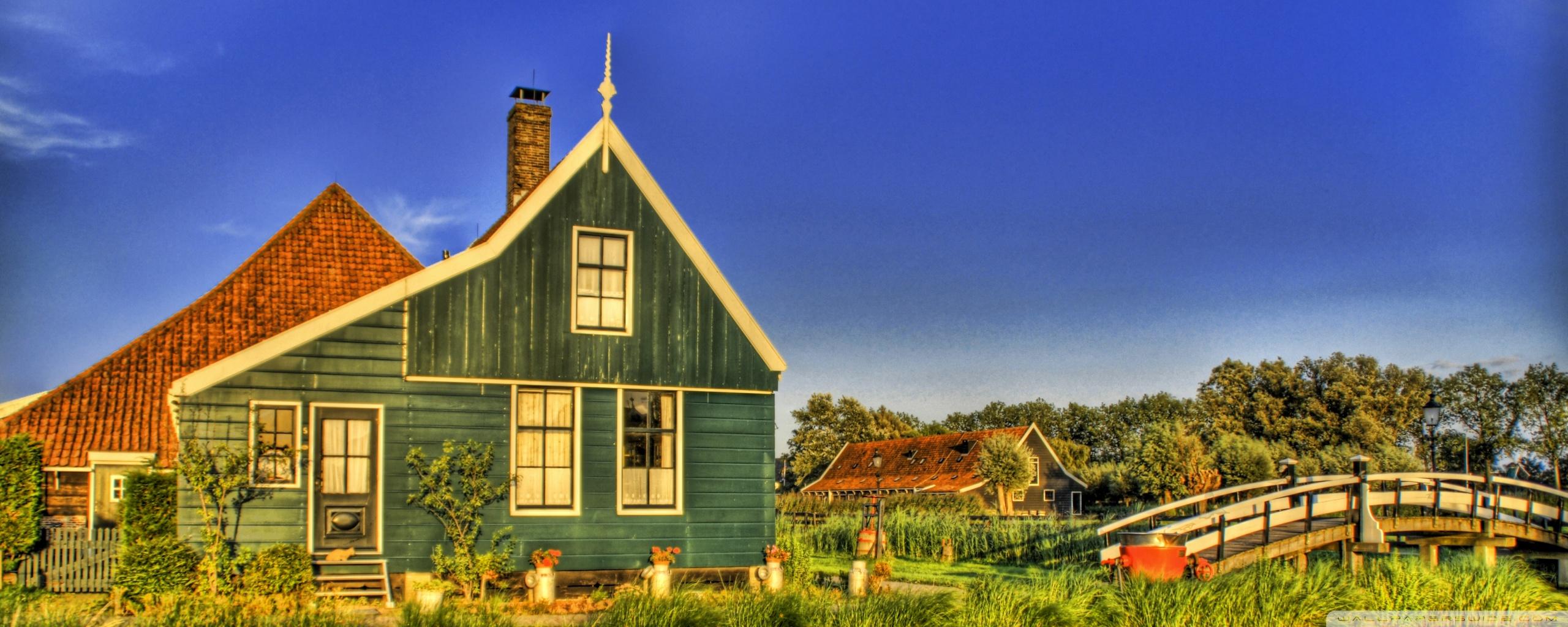 Holland Farmhouse 4K HD Desktop Wallpaper for 4K Ultra HD TV 2560x1024
