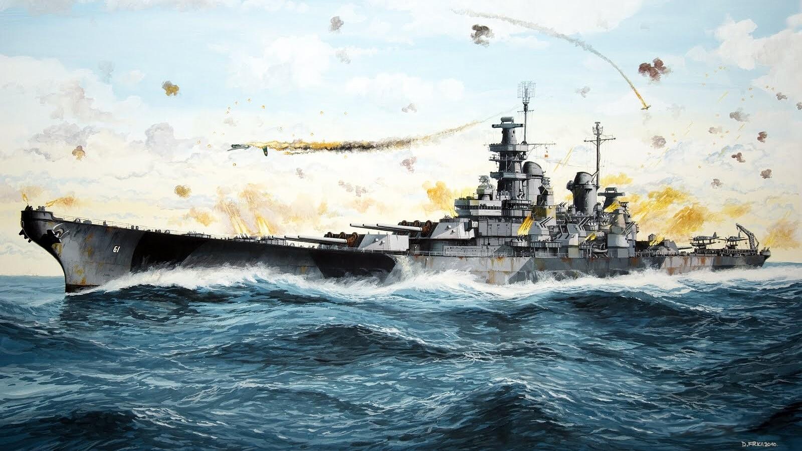 USS Iowa BB 61 Wallpaper and Background Image 1600x900 ID 1600x900