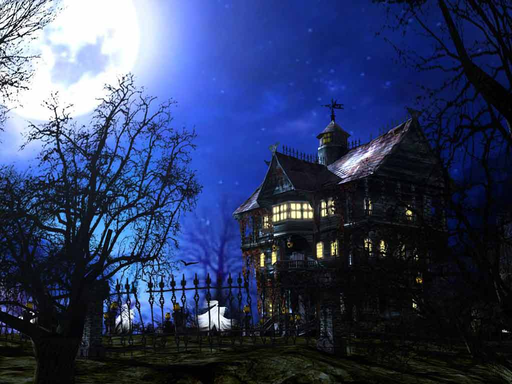 Haunted House   downloads backgrounds wallpapers 1024x768